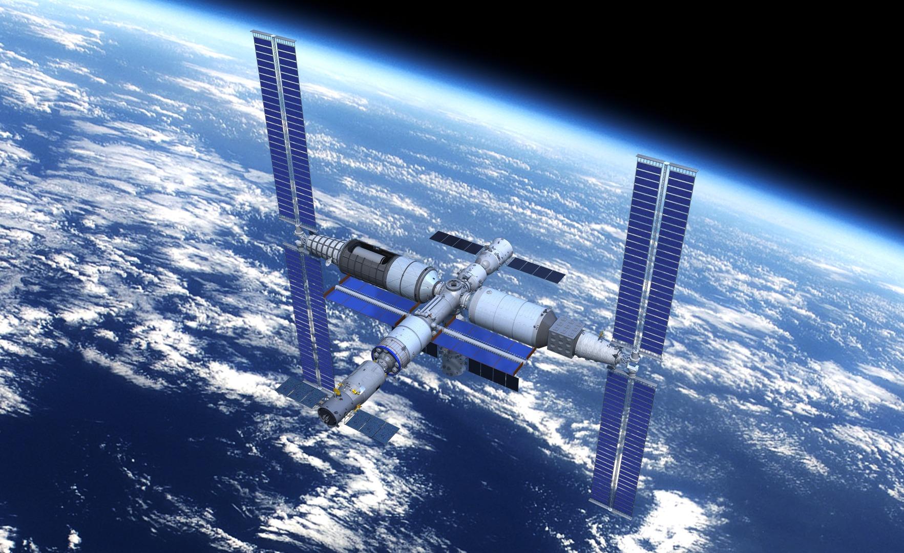 天宫空间站纸模型 TianGong Space Station Paper Models